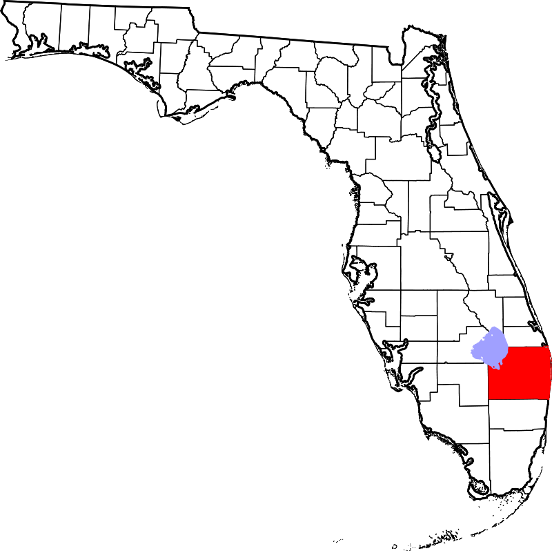 Palm Beach County FL map - A-1 Bail Bonds Agency